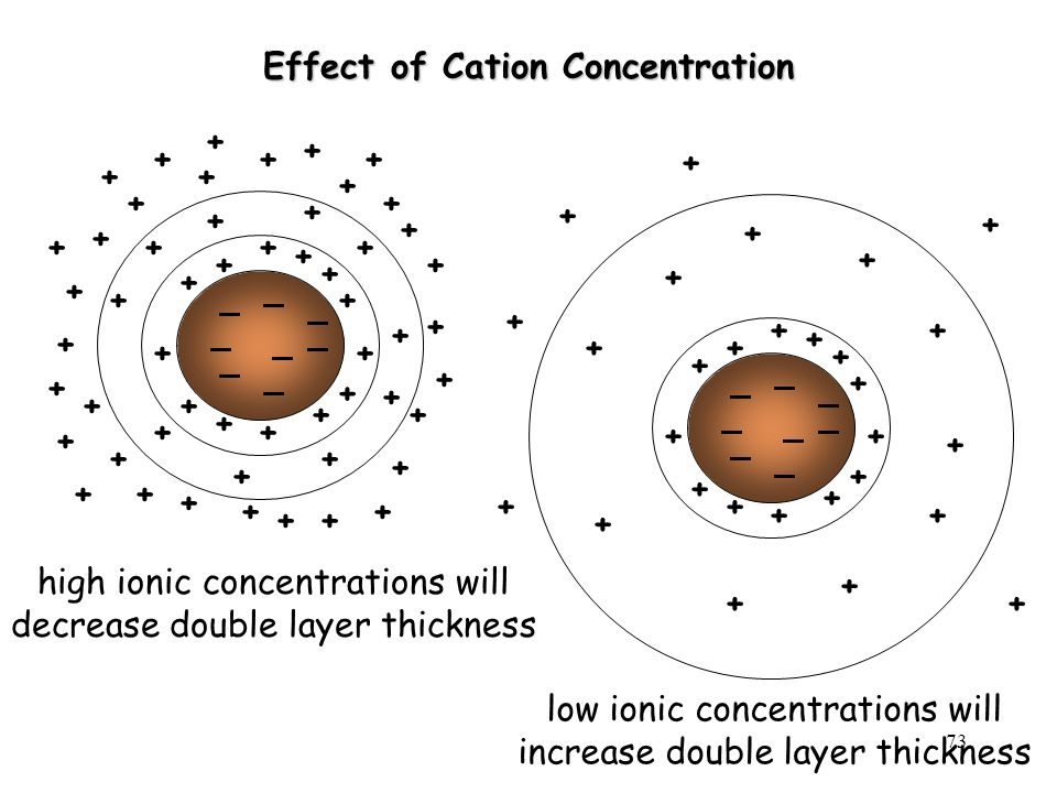 Effect of Cation Concentration