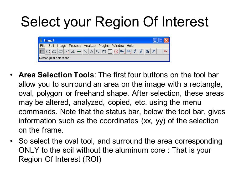 Select your Region Of Interest