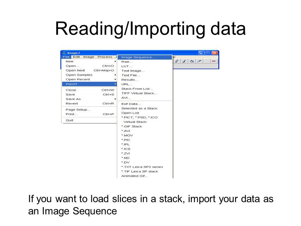 Reading/Importing data