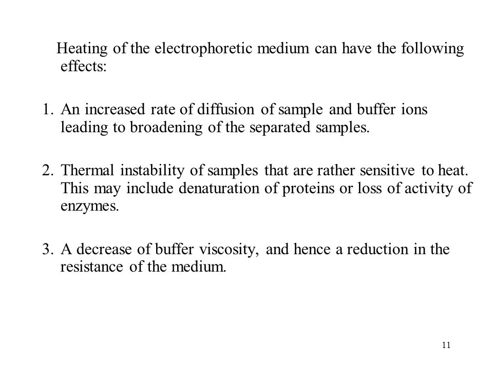 Heating of the electrophoretic medium can have the following effects: