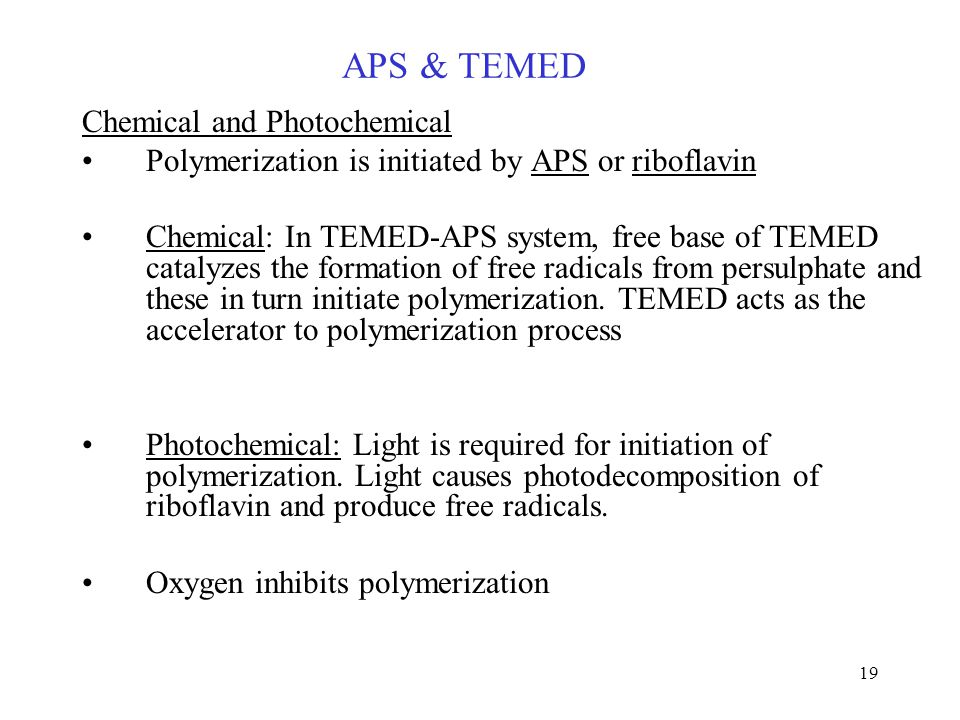 APS & TEMED Chemical and Photochemical