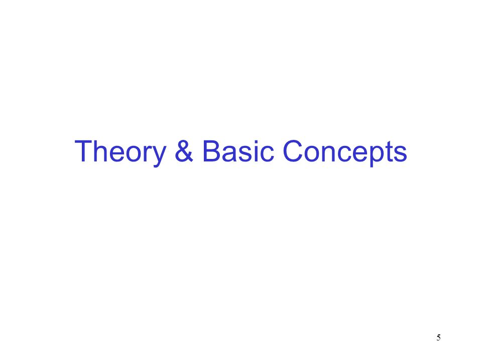 Theory & Basic Concepts
