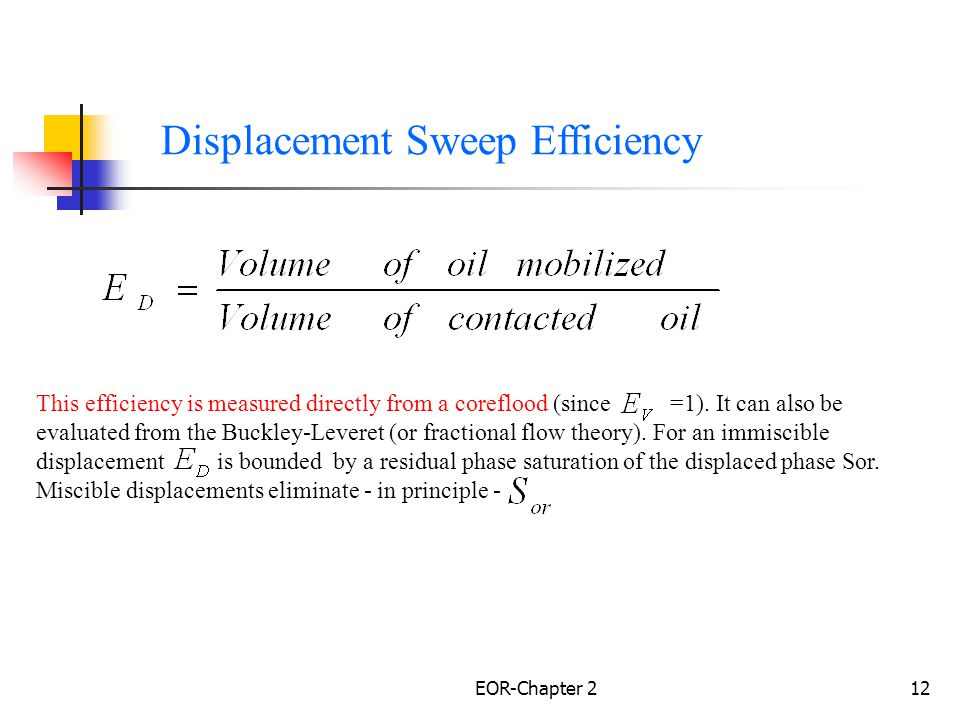 Displacement Sweep Efficiency