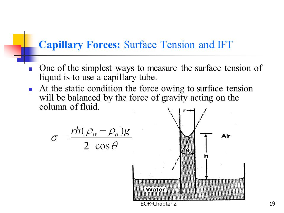 Capillary Forces: Surface Tension and IFT