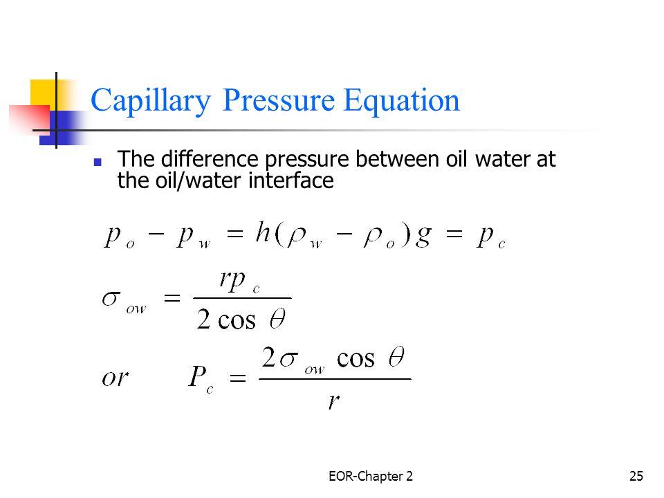 Capillary Pressure Equation
