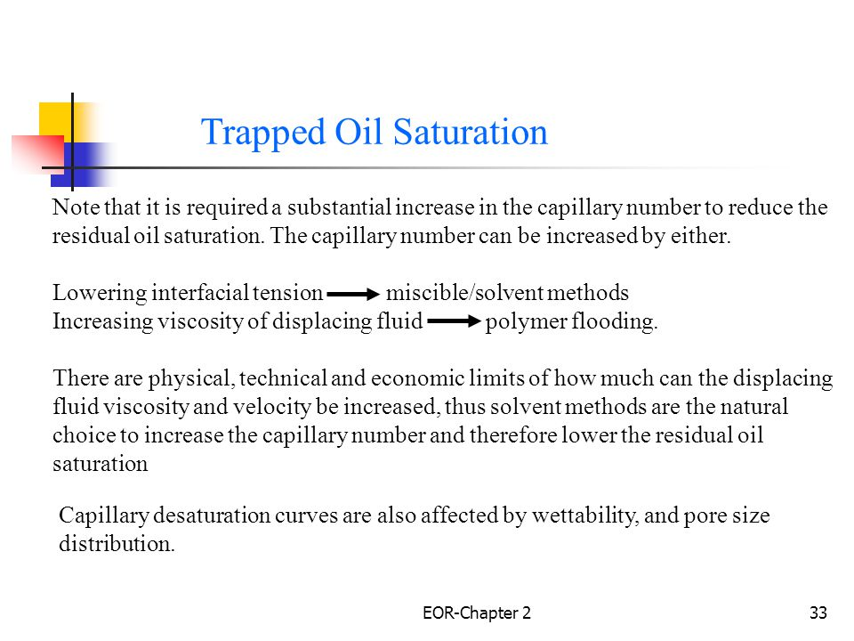 Trapped Oil Saturation