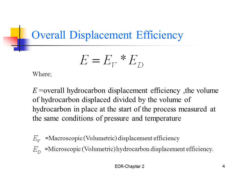 Overall Displacement Efficiency