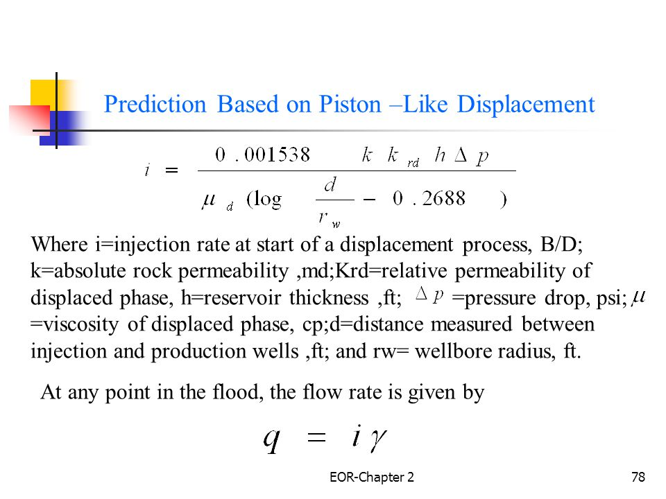Prediction Based on Piston –Like Displacement
