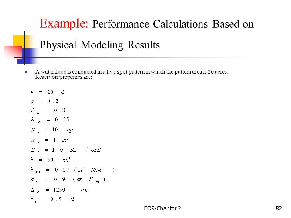 Example: Performance Calculations Based on Physical Modeling Results