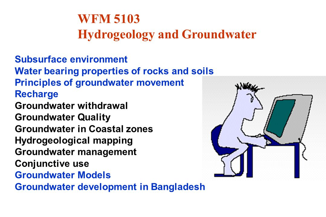 Hydrogeology and Groundwater