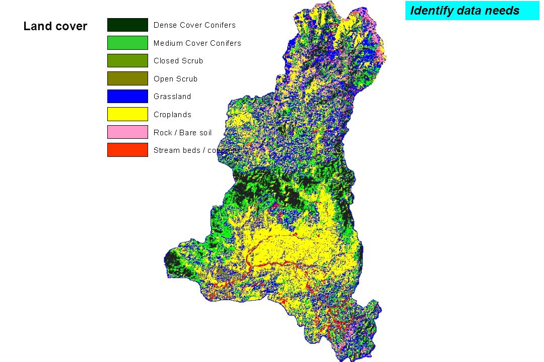 Identify data needs Land cover
