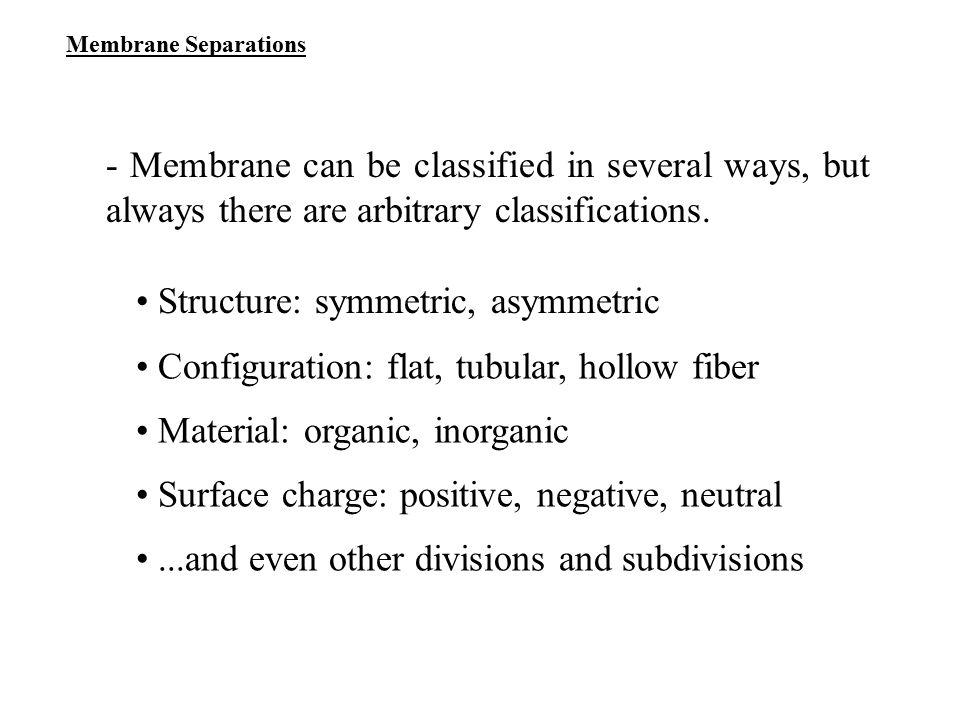 • Structure: symmetric, asymmetric