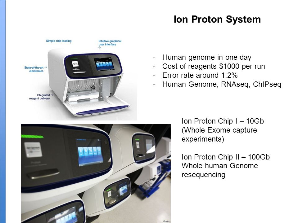 Ion Proton System Human genome in one day