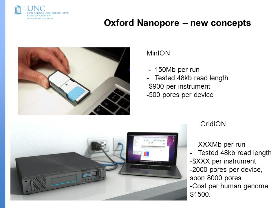 Oxford Nanopore – new concepts