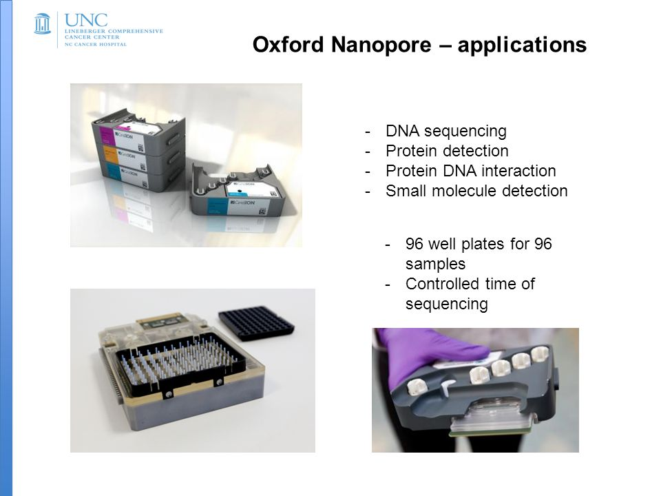 Oxford Nanopore – applications