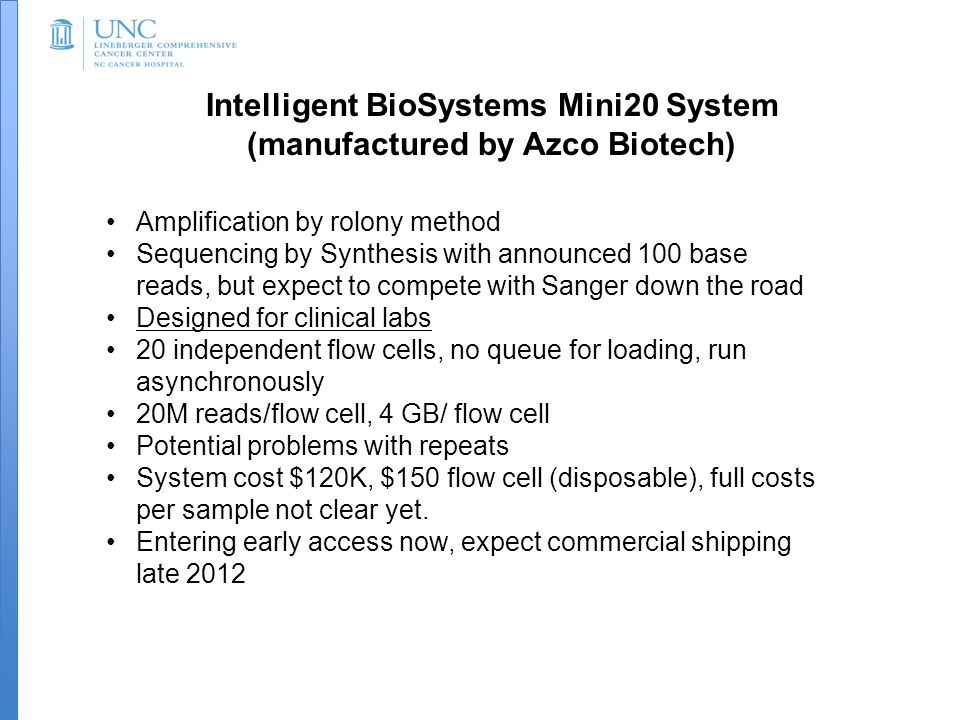 Intelligent BioSystems Mini20 System (manufactured by Azco Biotech)