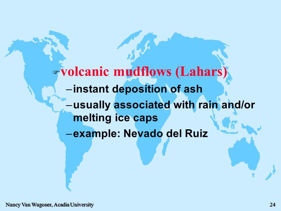 volcanic mudflows (Lahars)