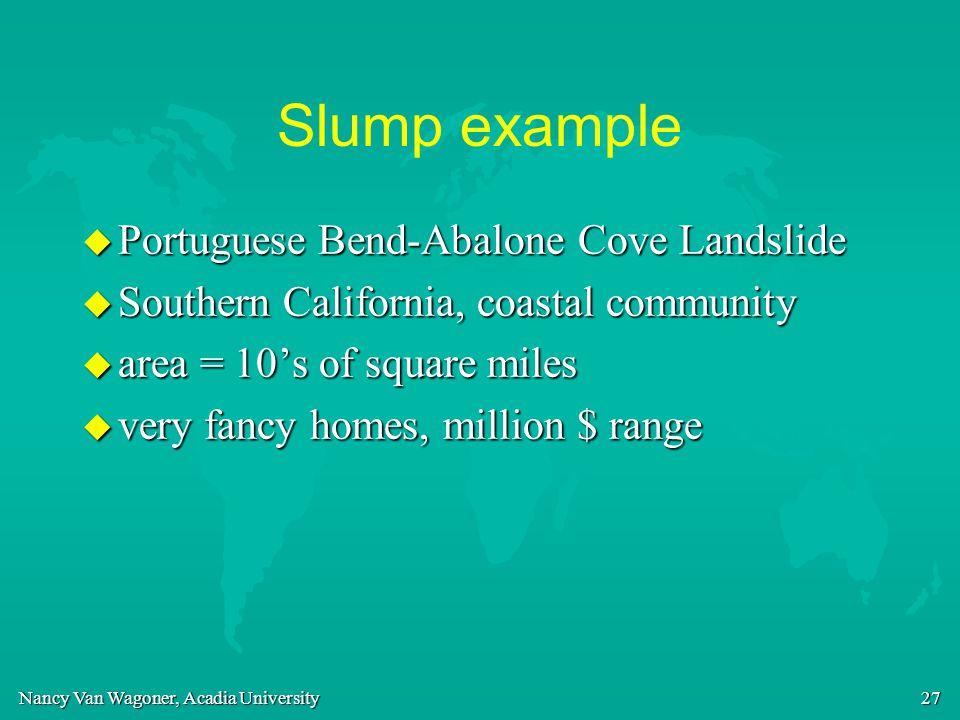 Slump example Portuguese Bend-Abalone Cove Landslide