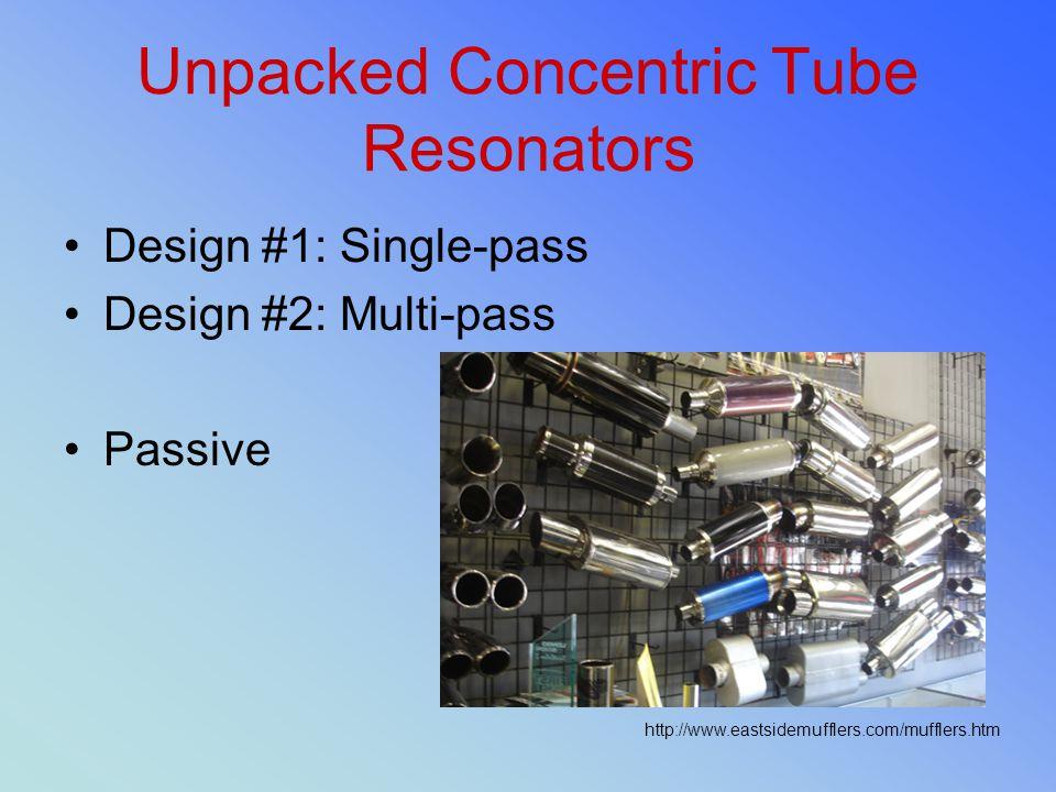 Unpacked Concentric Tube Resonators