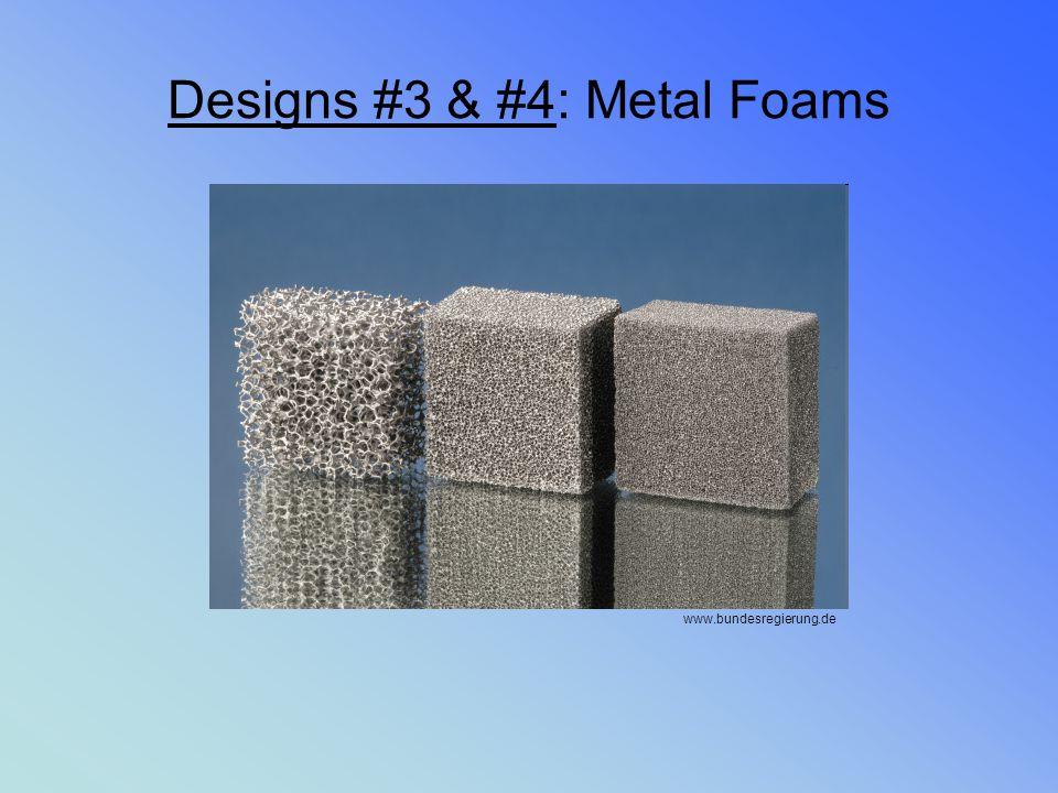 Designs #3 & #4: Metal Foams