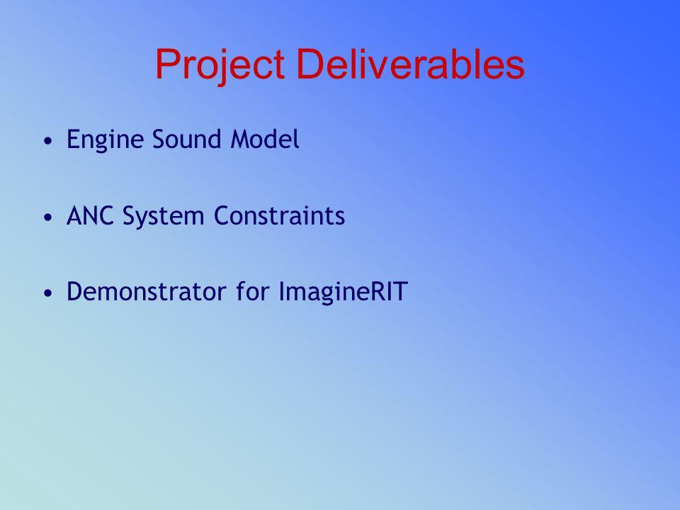 Project Deliverables Engine Sound Model ANC System Constraints