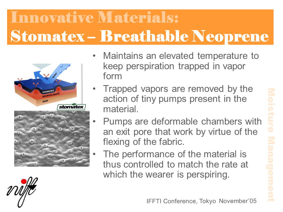 Innovative Materials: Stomatex – Breathable Neoprene
