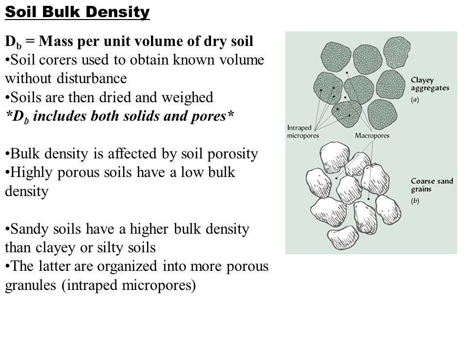 Soil architectural and physical properties ppt video for Soil bulk density