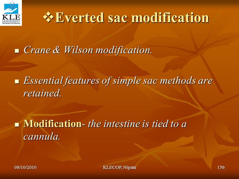 Everted sac modification