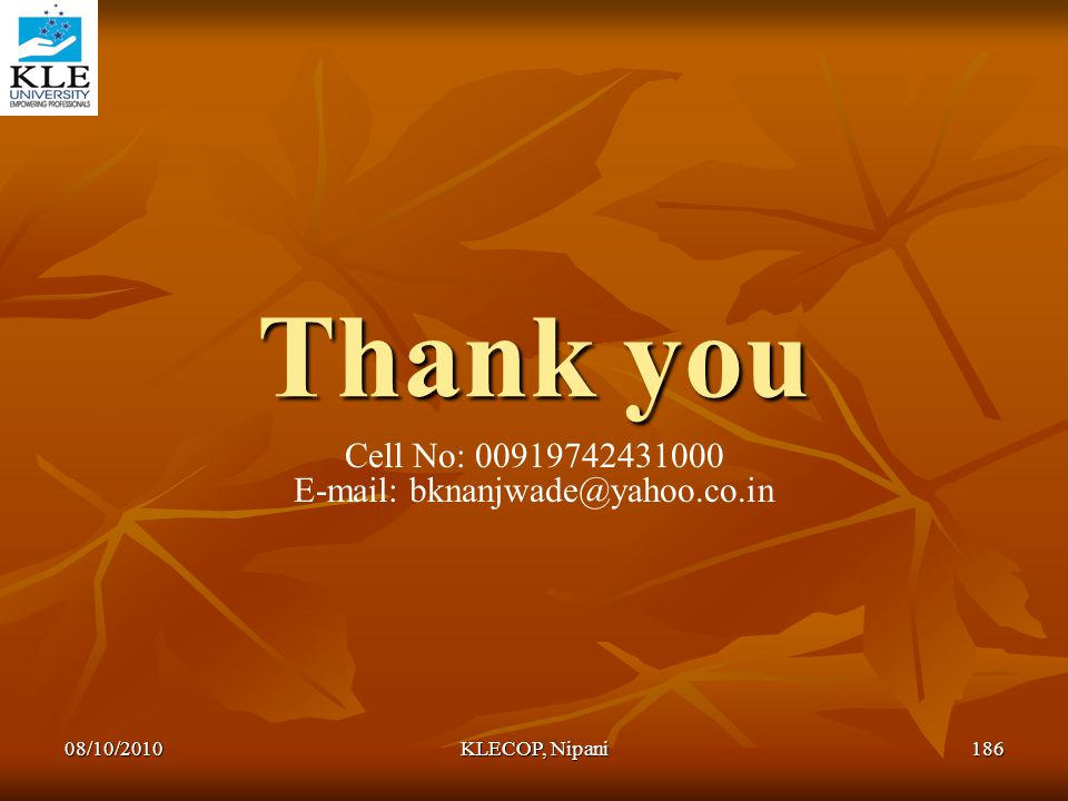E-mail: bknanjwade@yahoo.co.in