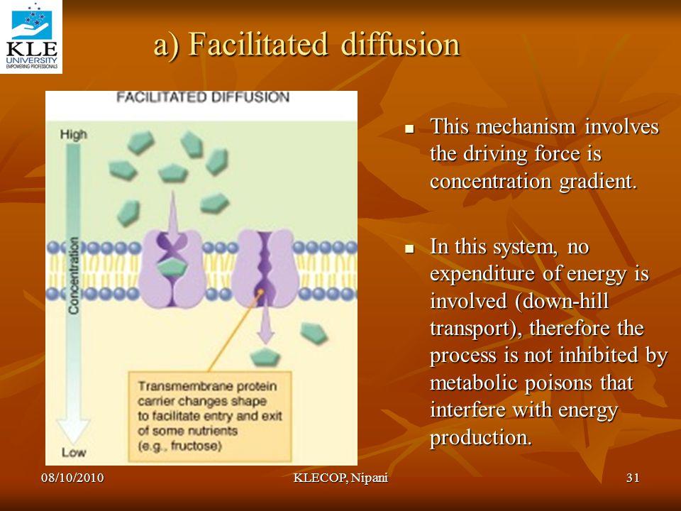 a) Facilitated diffusion