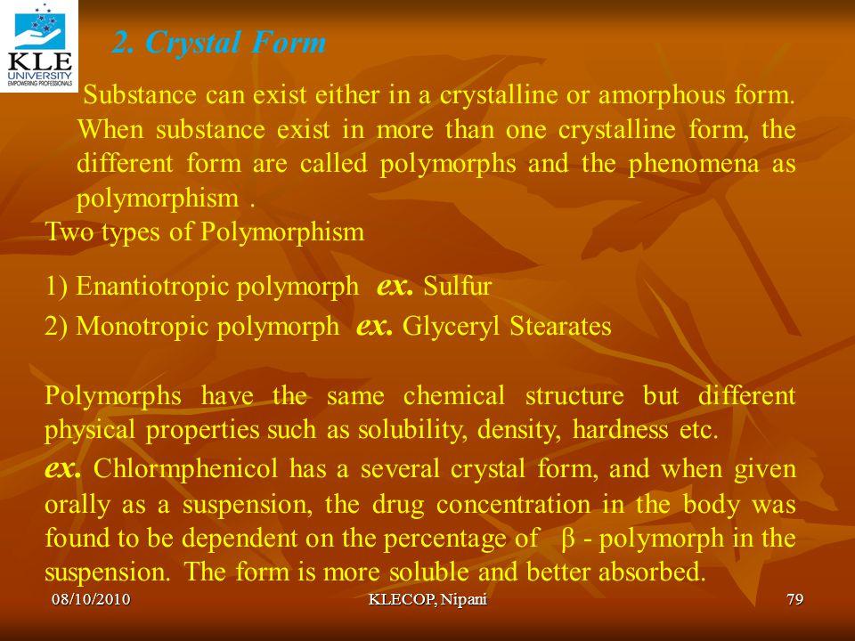 2. Crystal Form
