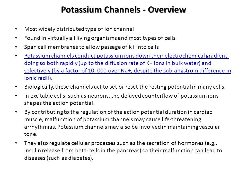 Potassium Channels - Overview