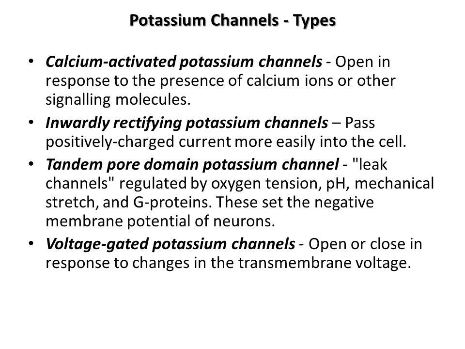 Potassium Channels - Types