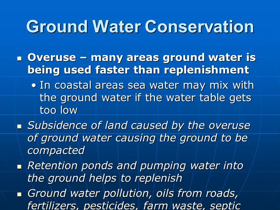 Ground Water Conservation