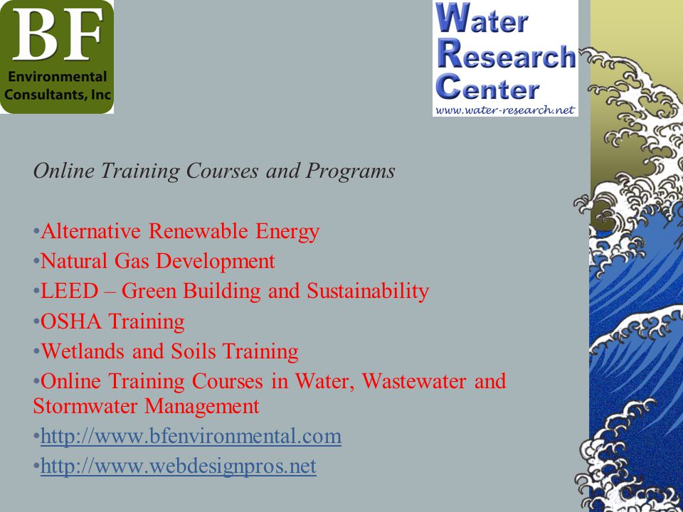 Online Training Courses and Programs