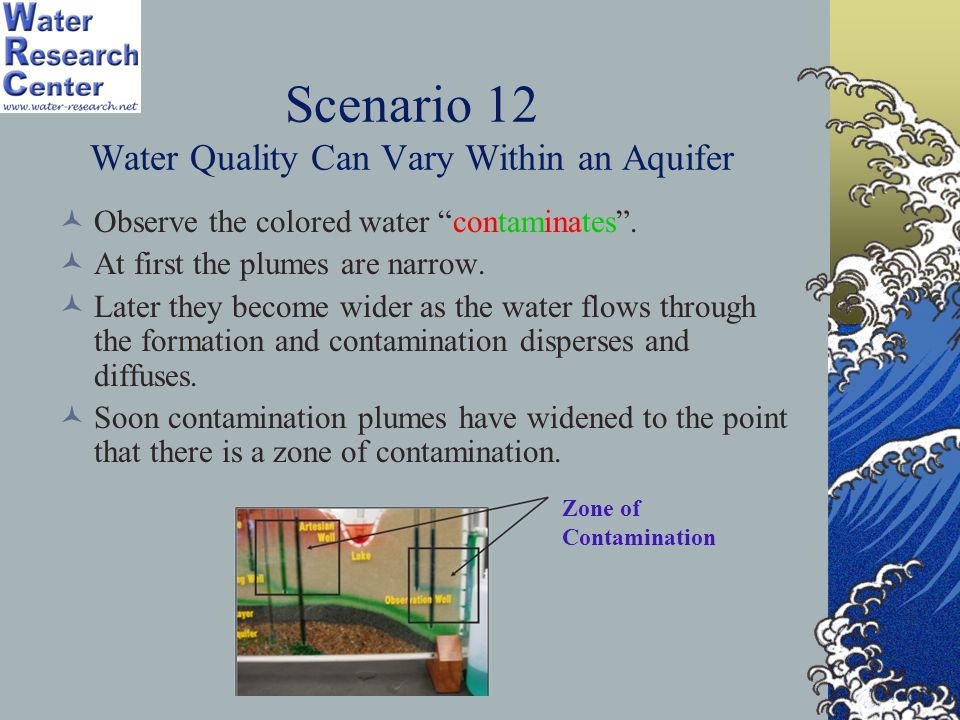Scenario 12 Water Quality Can Vary Within an Aquifer