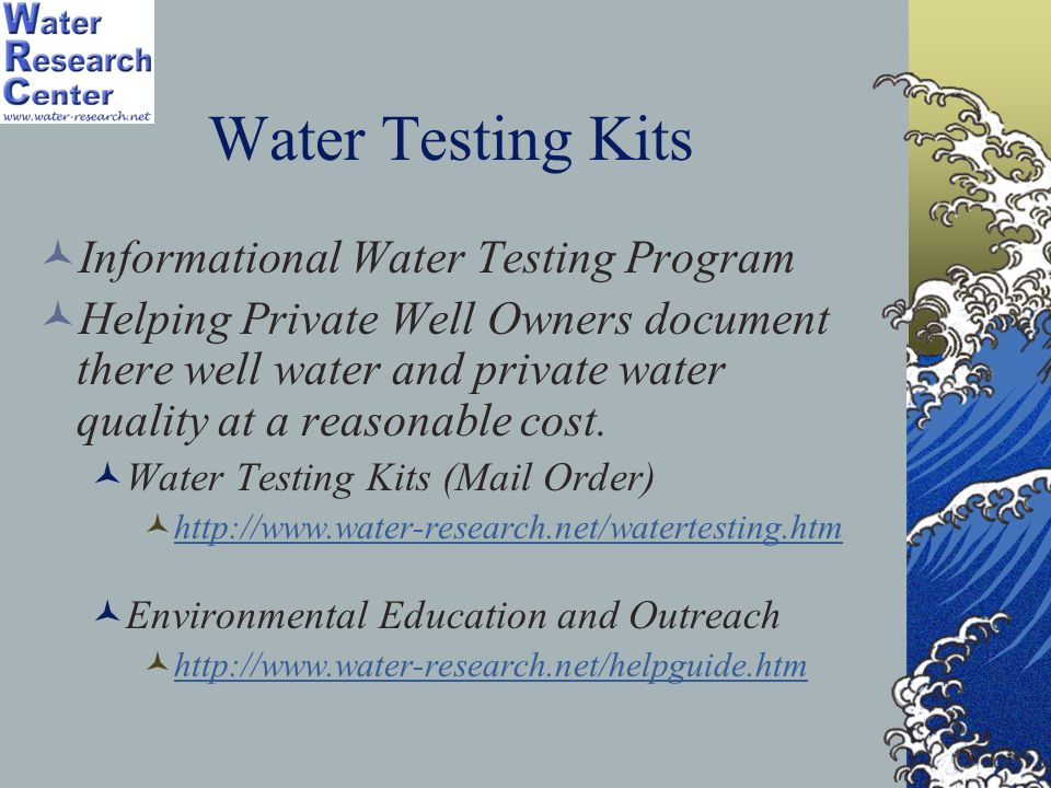 Water Testing Kits Informational Water Testing Program