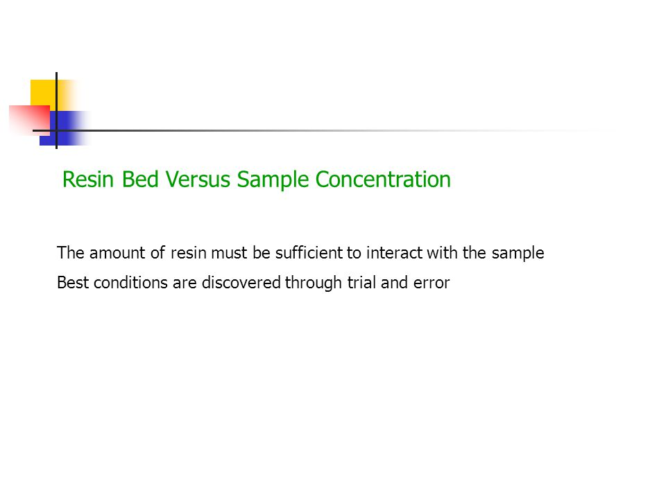 Resin Bed Versus Sample Concentration