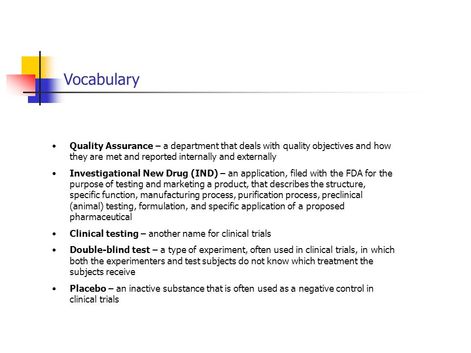 Vocabulary Quality Assurance – a department that deals with quality objectives and how they are met and reported internally and externally.