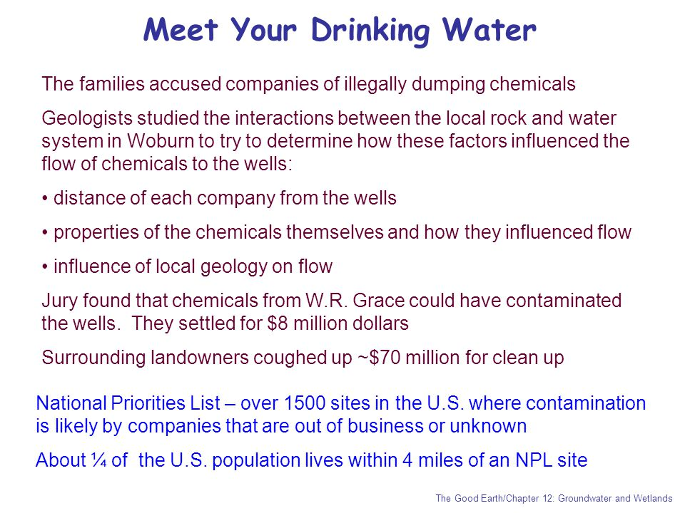 Meet Your Drinking Water