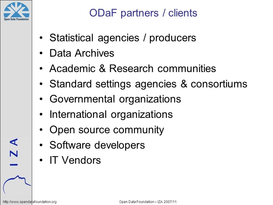 ODaF partners / clients
