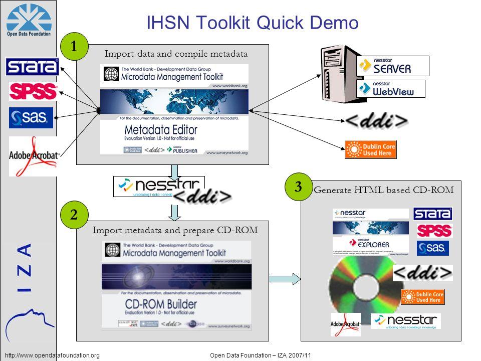 IHSN Toolkit Quick Demo