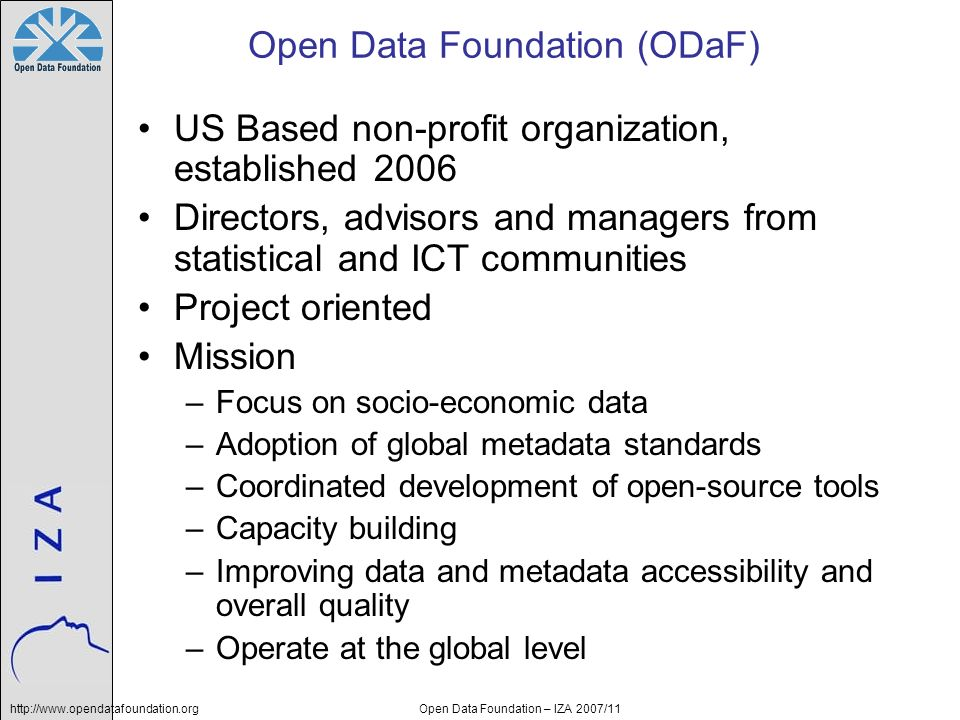 Open Data Foundation (ODaF)