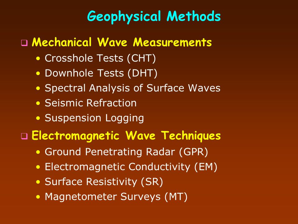 Geophysical Methods Mechanical Wave Measurements