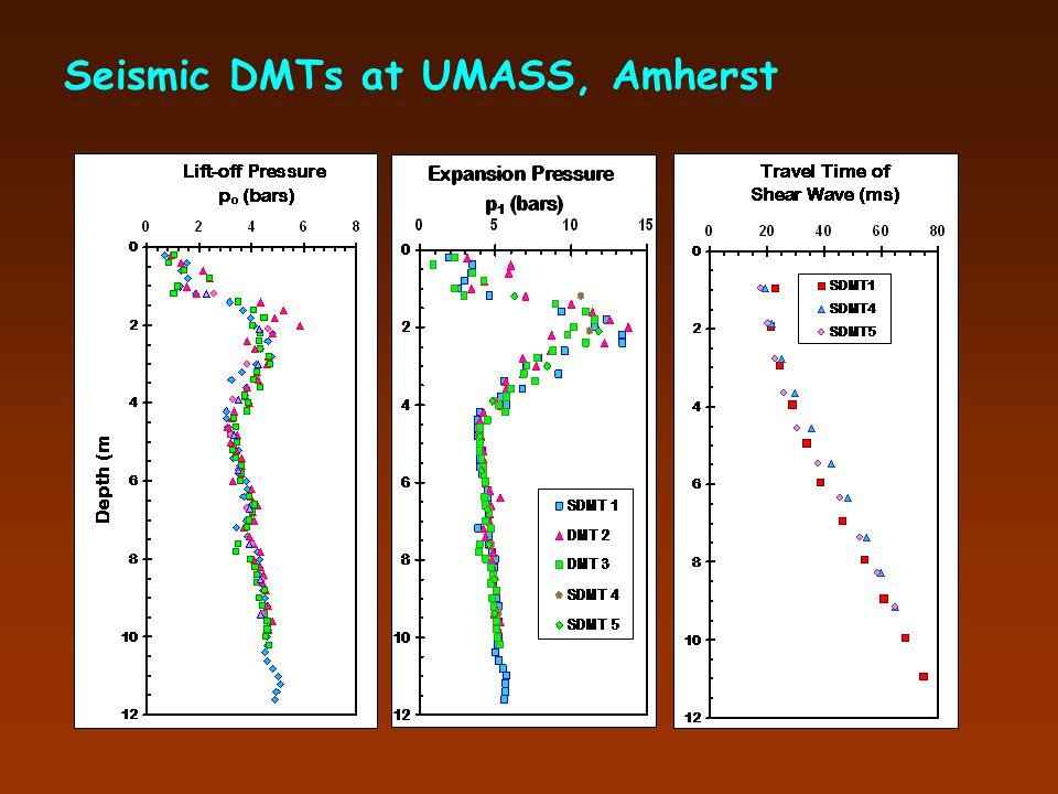 Seismic DMTs at UMASS, Amherst