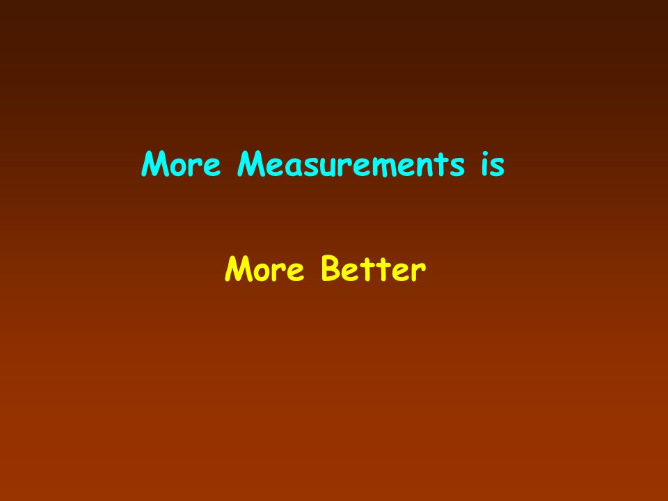 More Measurements is More Better