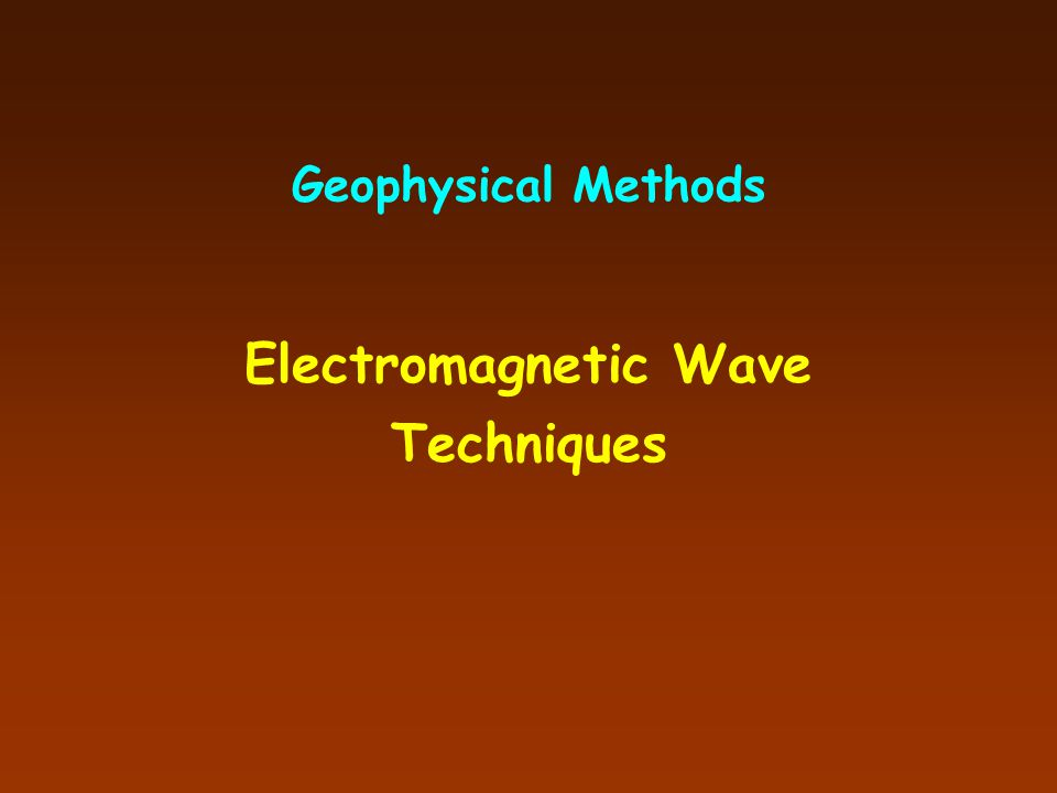 Electromagnetic Wave Techniques