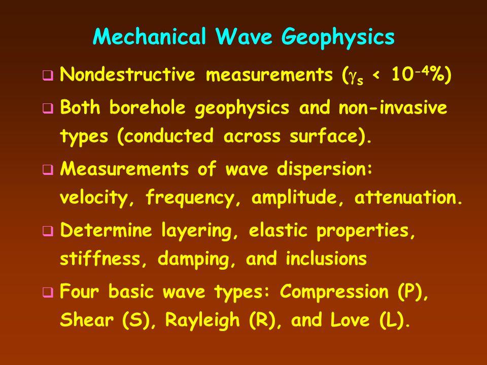 Mechanical Wave Geophysics