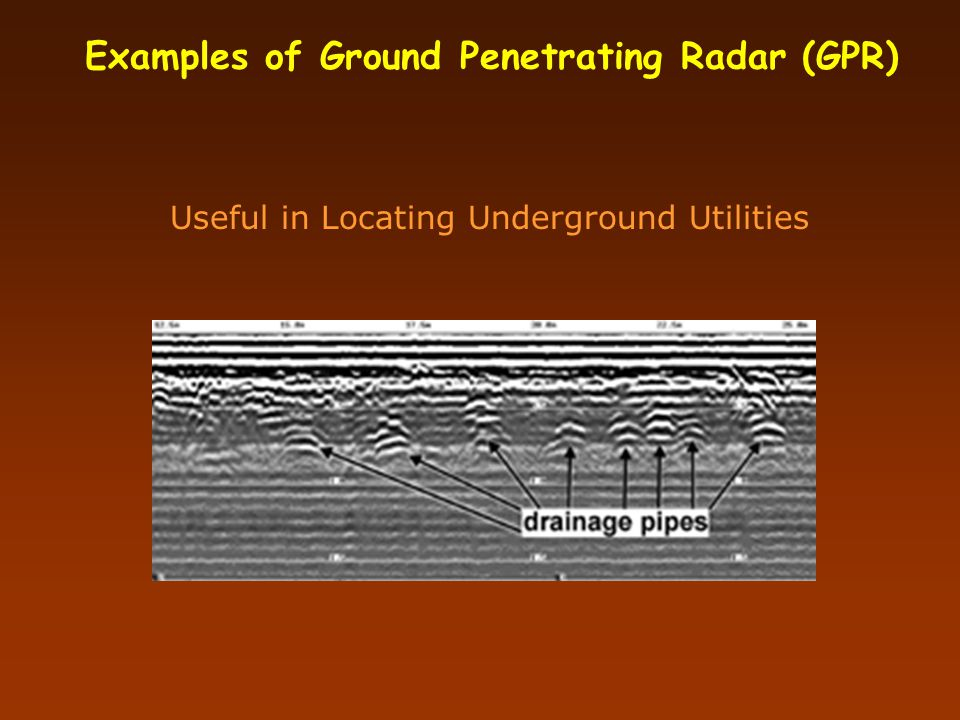 Examples of Ground Penetrating Radar (GPR)