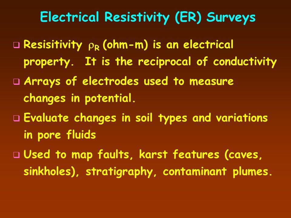 Electrical Resistivity (ER) Surveys